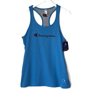 NWT. CHAMPION.Blue & Gray Reversible work out tank